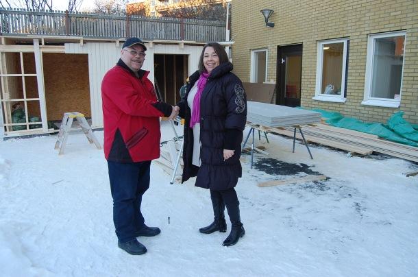 Göteborgs Stad representant är mycket nöjd med arbetet Astor Bygg gjort på Seglaregatan i Majorna.